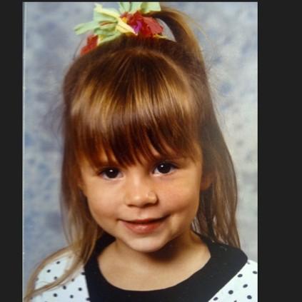 Cute little girl portrait photo.