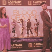 Kacey Barnfield promoting Blood Orange film at Cannes.