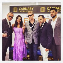 A group of well dressed people at Cannes.