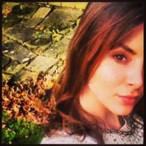 Pretty English rose selfie.