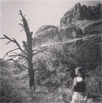 Hot girl in the desert.