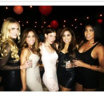 A cgroup of hot girls on a night out.