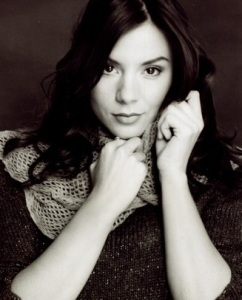 Black and white image of Kacey Barnfield.