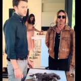 Ben Lamb and Iggy Pop with sexy actress in the background.