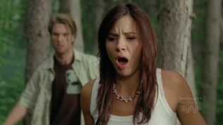 Hot actress with her mouth open in shock.