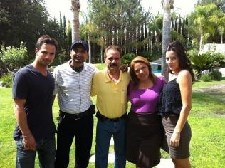 Cast group photo outside in Brazil or Brasil.