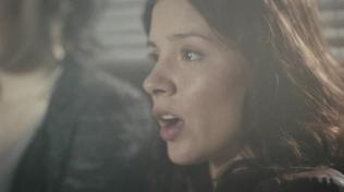 Close-up of actress talking.