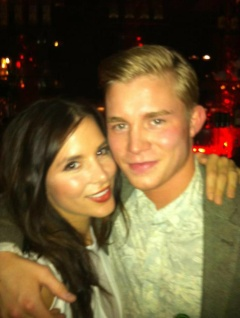 Kacey Barnfield and her brother.