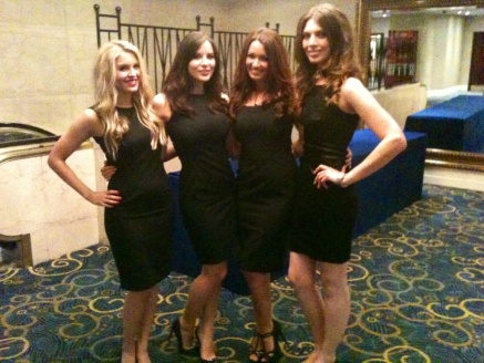 Four classy ladies ready for a night out.