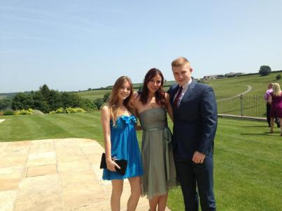 Kacey Barnfield and her siblings looking smart.