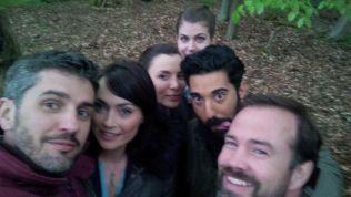 Cast of the movie World War Dead: Rise of the Fallen selfie.