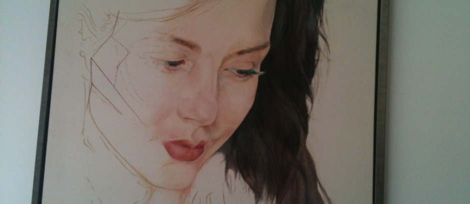 Painting of actress Kacey Barnfield.