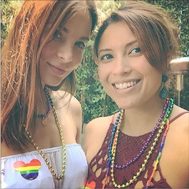 Kacey Barnfield celebrating LGBT Pride month