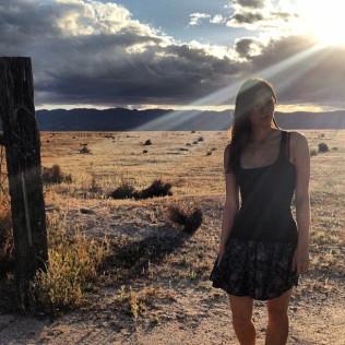 Kacey Barnfield shooting Enchanting the Mortals film.