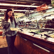 Kacey Barnfield off set while filming Enchanting the Mortals film.