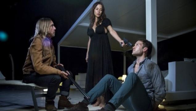 Iggy Pop, Kacey Barnfield, and Ben Lamb in the film Blood Orange
