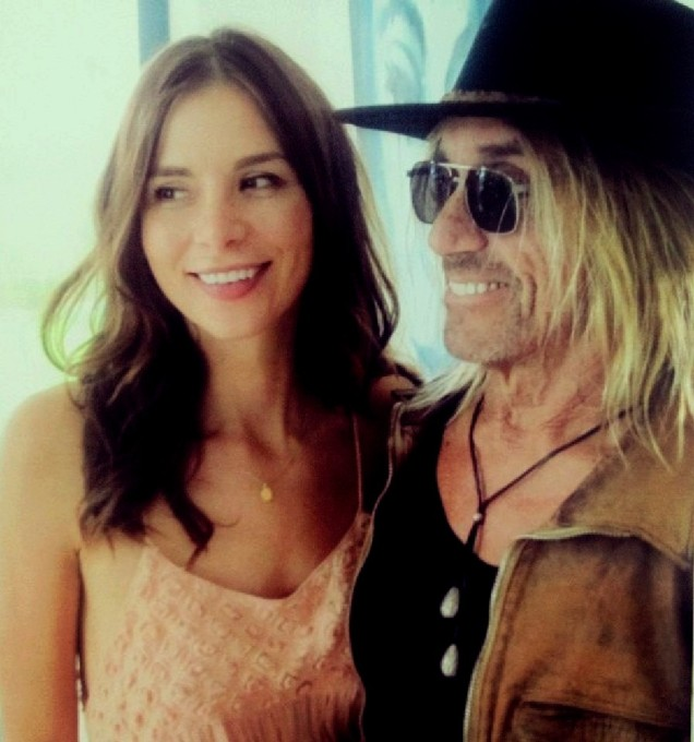 Kacey Clarke and Iggy Pop on the set of Blood Orange