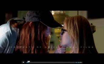 Kacey Barnfield about to kiss Anya Monzikova
