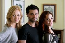 Kacey Barnfield, Anya Monzikova, and Raffaello Degruttola in Seeking Dolly Parton