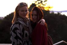 Kacey Barnfield and Anya Monzikova in Seeking Dolly Parton