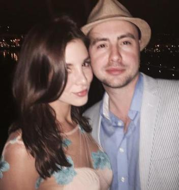 Kacey Barnfield next to a friend in Cannes