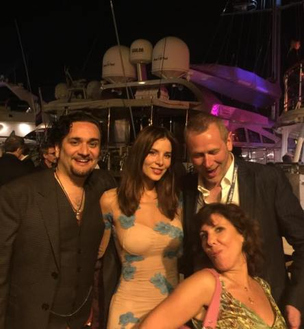 Kacey Barnfield and crew in Cannes