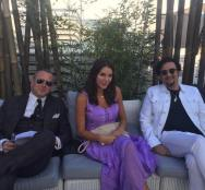 Kacey Barnfield and producers in Cannes