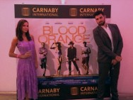 Kacey Barnfield and Antonio Magro in Cannes