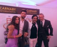 Kacey Barnfield and others in Cannes