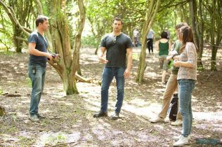 Kacey Barnfield filming Welcome to Curiosity