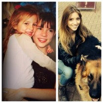 Actress Kacey Barnfield and her younger sister