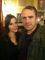 Actress Kacey Barnfield next to another member of the Green Street 3 cast