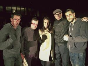 Kacey Barnfield with other Green Street 3 cast members