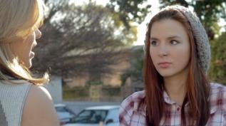 Kacey Barnfield looking at Anya Monzikova