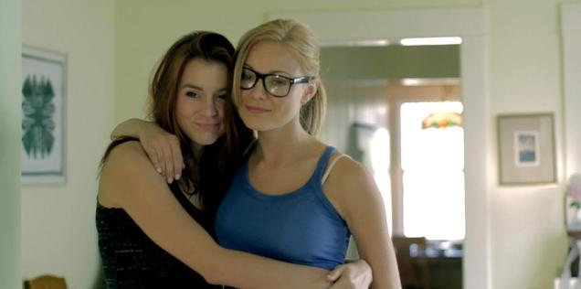 Kacey Barnfield and Anya Monzikova during the filming of Seeking Dolly Parton