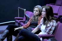 Anya Monzikova and Kacey Barnfield at a rehearsal before shooting Seeking Dolly Parton