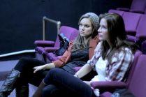 Anya Monzikova and Kacey Barnfield at a rehearsal before shooting Seeking Dolly Parton