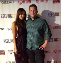 Kacey Barnfield looking beautiful while standing with a guy