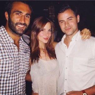 Actress Kacey Barnfield in LA with two college friends