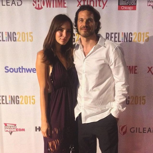 Kacey Barnfield and Michael Worth at Chicago's Reeling LGBTQ Film Festival 2015