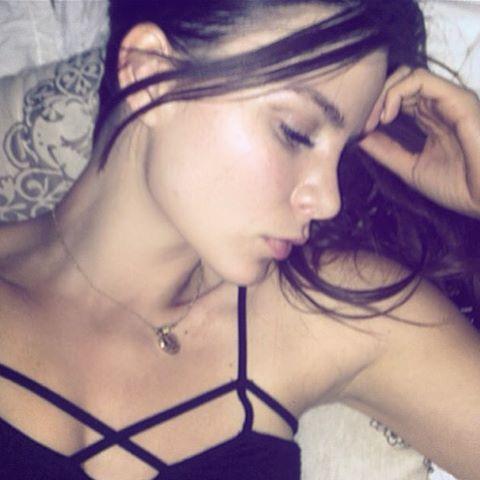 Kacey Barnfield looking beautiful while sleeping
