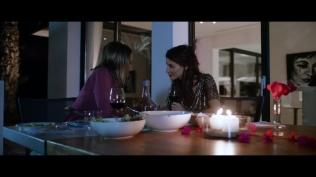 Kacey Clarke and Iggy Pop having a romantic dinner