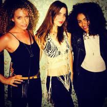 Kacey Clarke with two pretty friends