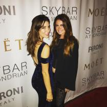 Kacey Clarke at an afterparty with a pretty friend