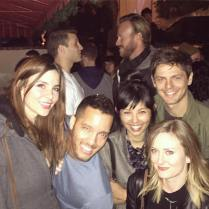 Kacey Clarke and a group of friends out for the night