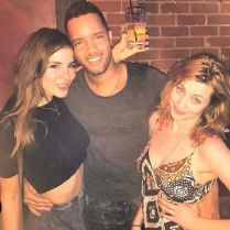 Kacey Clarke drinking with some friends