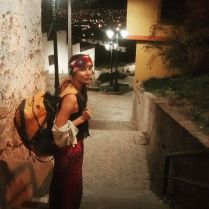 Kacey Clarke looking like a tourist