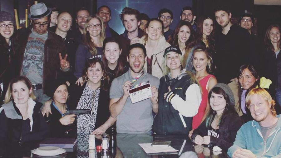 Photo featuring the full cast and crew of Kacey Clarke film 10 Year Reunion